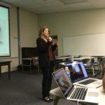 Lari Snorek-Yates, CS giving her talk at Pacific School of Religion