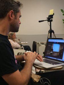 Gabriel recording video