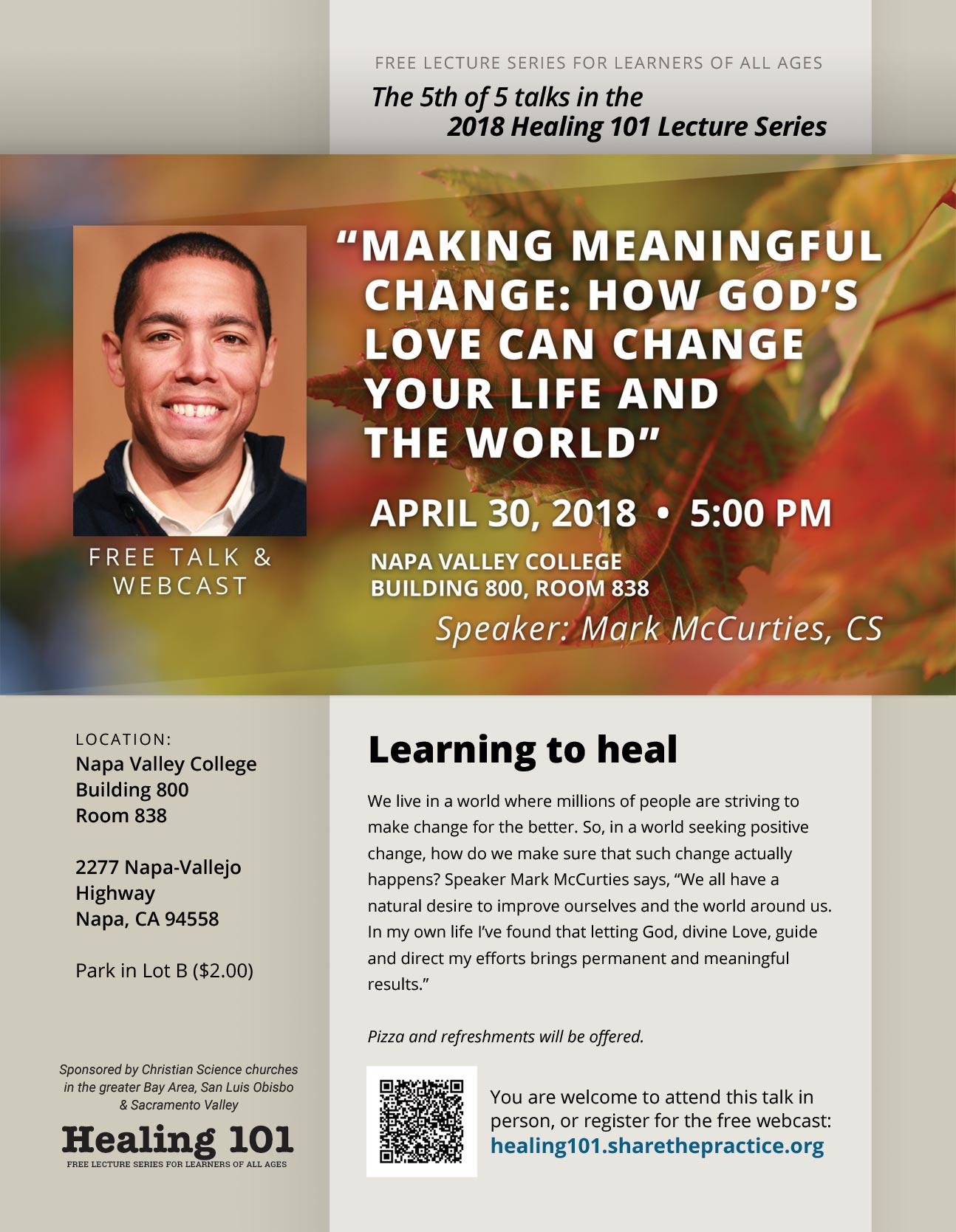 Healing 101 flier Mark McCurties